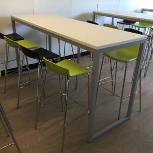 Urban Poseur Table With High Stools From Huddle Furniture