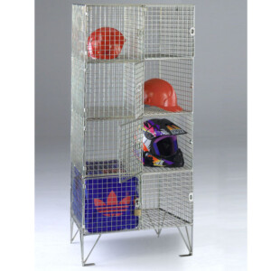 Wire Mesh Lockers 8 Compartments With Doors